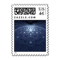 Edelweiss Abstract Fractal Art Postage Stamps