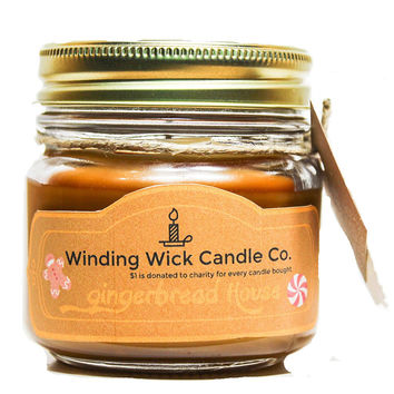 Gingerbread House Scented Candle BY Winding Wick Candle Co.