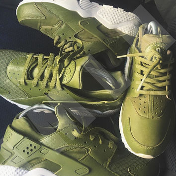 Free USPS DELIVERY Army Green Nike Huaraches