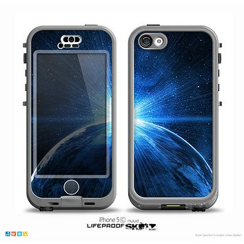 The Bright Blue Earth Light Flash Skin for the iPhone 5c nüüd LifeProof Case