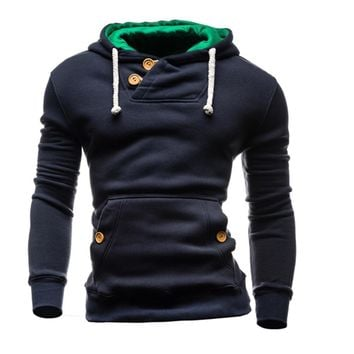 New arrive 2016 False mens hoodies pullover sweatshirt hombre clothing O-neck Solid moleton masculino
