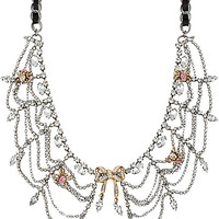 BetseyJohnson.com - ENCHANTED BOW SPIDER CRYSTAL COLLAR PINK