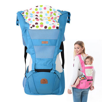Breathable baby carrier sling with cotton hoody toddler kangaroo backpack carrier hipseat baby care Activity&Gear product 0-36M
