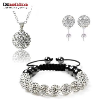 Crystal  Set Necklaces & Pendants/Bracelet/Earring Studs Jewelry Set With Disco Balls