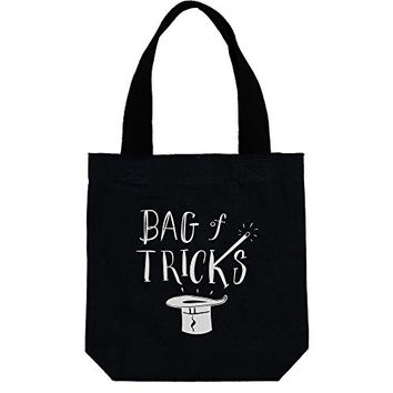 Bag of Tricks - Black Canvas Tote Bag 15-1/2-in