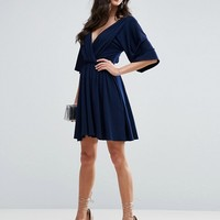 ASOS Slinky Knot Back Kimono Dress at asos.com