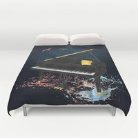 Sound of Piano Duvet Cover by Berwies