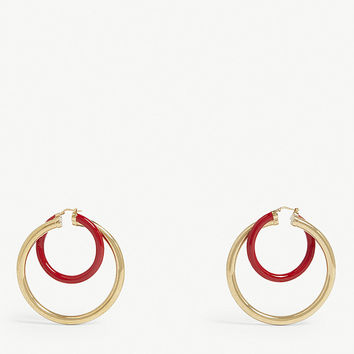 PETER PILOTTO Large double-hoop earrings
