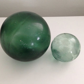 "Glass Fishing Float Handblown 5"" Japanese Glass Float Round Glass Ball"