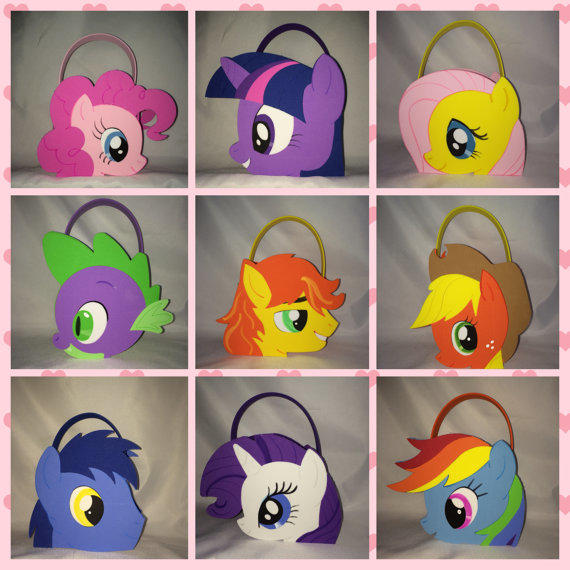 My Little Pony Party Bags Treat Favors From Titaspartycreations