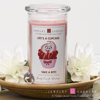 Life's A Cupcake - Take A Bite!  - Jewelry Greeting Candles