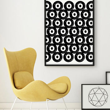 Abstract Art Geometric Art Minimalist Digital Print Poster Giclee Screenprint Gallery Wall Large Kunst Graphics Dots Circle Druck PRINTABLE