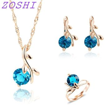 New Fashion Blue African crystal beads jewelry set