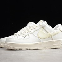 Nike Air Force 1 Low '07 Premium Oversize Swoosh Sail Sneakers - Best Online Sale