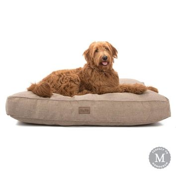 Tweed Rectangle Dog Bed   3 colors
