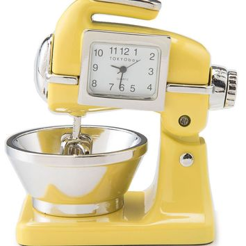 Yellow Retro Clock Mixer