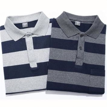 Spring Autumn Long Sleeve Polo Shirt Men Basic Cotton Striped Cotton Polos Slim Fit Masculina Tees Tops 12 Colors Gifts Father