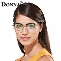 Donna Fashion Reading Eyeglasses with clear lens Optical Round Glasses Frames Glasses Women New TR90 Frame Reading Eyeglass DN10