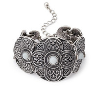 Etched Medallion Bracelet