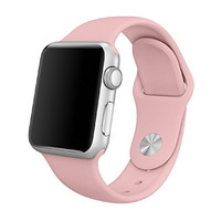 Apple Watch Band - AWStech Soft Silicone Sport Style Replacement iWatch Strap for Apple Wrist Watch 38mm All Models - Retro Rose