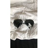 Authentic Oversized Polarized Black RayBan Aviator Sunglasses