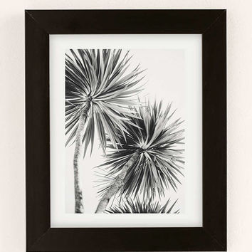 Kate Doherty Monochrome LA Palms Art Print - Urban Outfitters