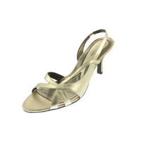 Naturalizer Womens Prissy metallic Leather Slingback Heels