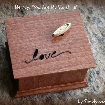 music box, love sign, musical box, wind up music box, wooden music box, last minute gift, wooden box, Mothers day gift