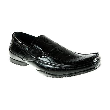 Mens Delli Aldo Spider Print Casual Mocassin Loafers Shoes 30070 Black-90