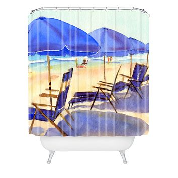 Laura Trevey Beach Chairs Shower Curtain