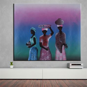 African Abstract Oil Painting Canvas Prints Wall Painting No FRAME