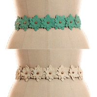 Starburst Elastic Belt - Ivory or Mint