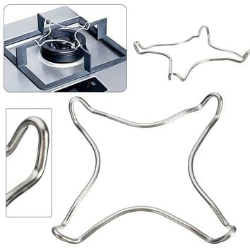 Mayitr Chrome Plated Metal Stove Top Pot Stand Coffee Maker Pot Trivet Stand Gas Cooker Hob Kitchen Tools 16.5cm x 16.5cm