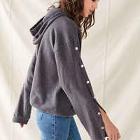 Urban Renewal Recycled Tear-Away Hoodie Sweatshirt | Urban Outfitters