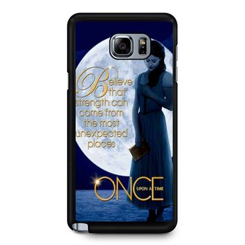 Once Upon A Time Belle Full Moon Samsung Galaxy Note 5 Case
