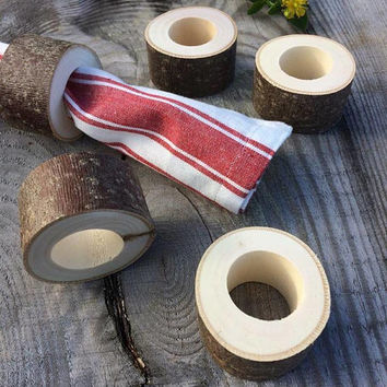 Set of 20 napkin rings, wooden napkin rings, rustic wedding decor, napkin holder, table setting, natural wood napkin rings, rustic decor