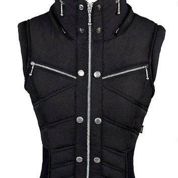 Ayyawear Ripstop Puma Vest in Black - Black Fur Hood Optional. - Renaissance Steampunk Ayyawear Verillas
