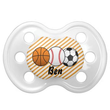 Sports Basketball, Baseball, Soccer Baby Pacifier