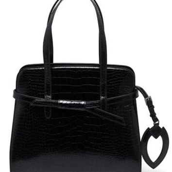 AZZEDINE ALAÏA | Crocodile Printed Handbag | brownsfashion.com | The Finest Edit of Luxury Fashion | Clothes, Shoes, Bags and Accessories for Men & Women