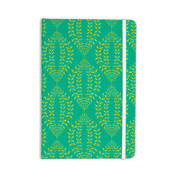 "Anneline Sophia ""Laurel Leaf Green"" Teal Floral Everything Notebook"