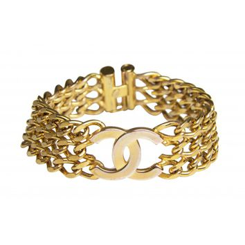 Chanel CC Chain Link Bracelet in Gold Plating