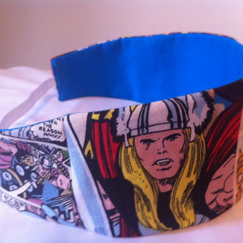 Thor Reversible Fabric Headband Marvel Avengers by StylishGeek