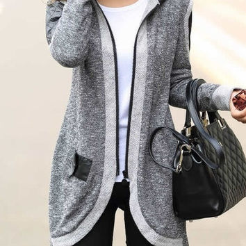Women Casual Coat Clothing Fashion Medium-long Cardigan Casual Outwear Sweater Coat Wadded Jacket S-XXL = 1920491524