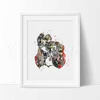 Lady and the Tramp 2 Watercolor Art Print