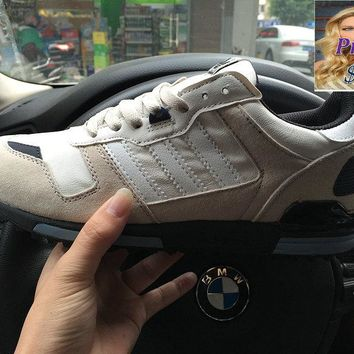 white casual shoes Adidas ZX 700 Beige White Black Navy shoes