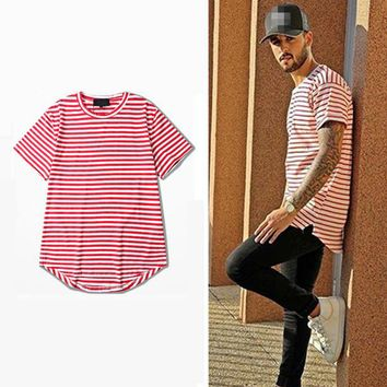 Men's Stripe Streetwear Casual Short Sleeve T-Shirt
