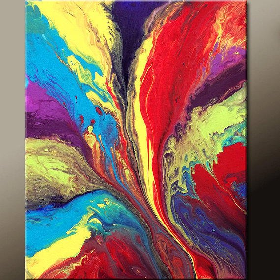 Abstract Art Painting 16x20 Contemporary Modern Art Original Wall Art  by Destiny Womack - dWo - The Way to Paradise