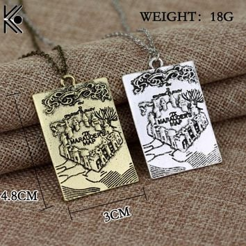 Free Shipping Once Upon A Time The Story Book Pendant Necklace maxi statement jewelry fashion chain link statement necklace