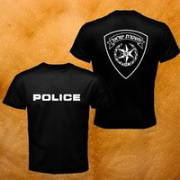 New Special Israel Police Forces Bouncer Event Party Black Men T-Shirt S-3XL