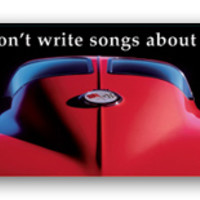 Corvette Art Poster - They dont write songs about Volvos.-Chevy Mall
